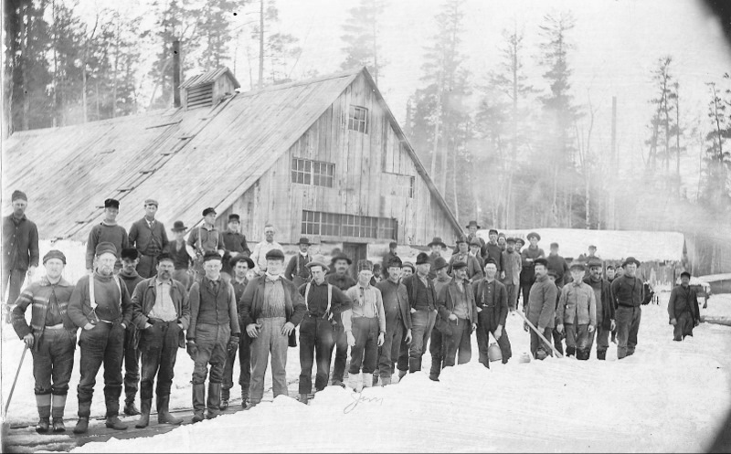 Lumbermen at a Logging Camp